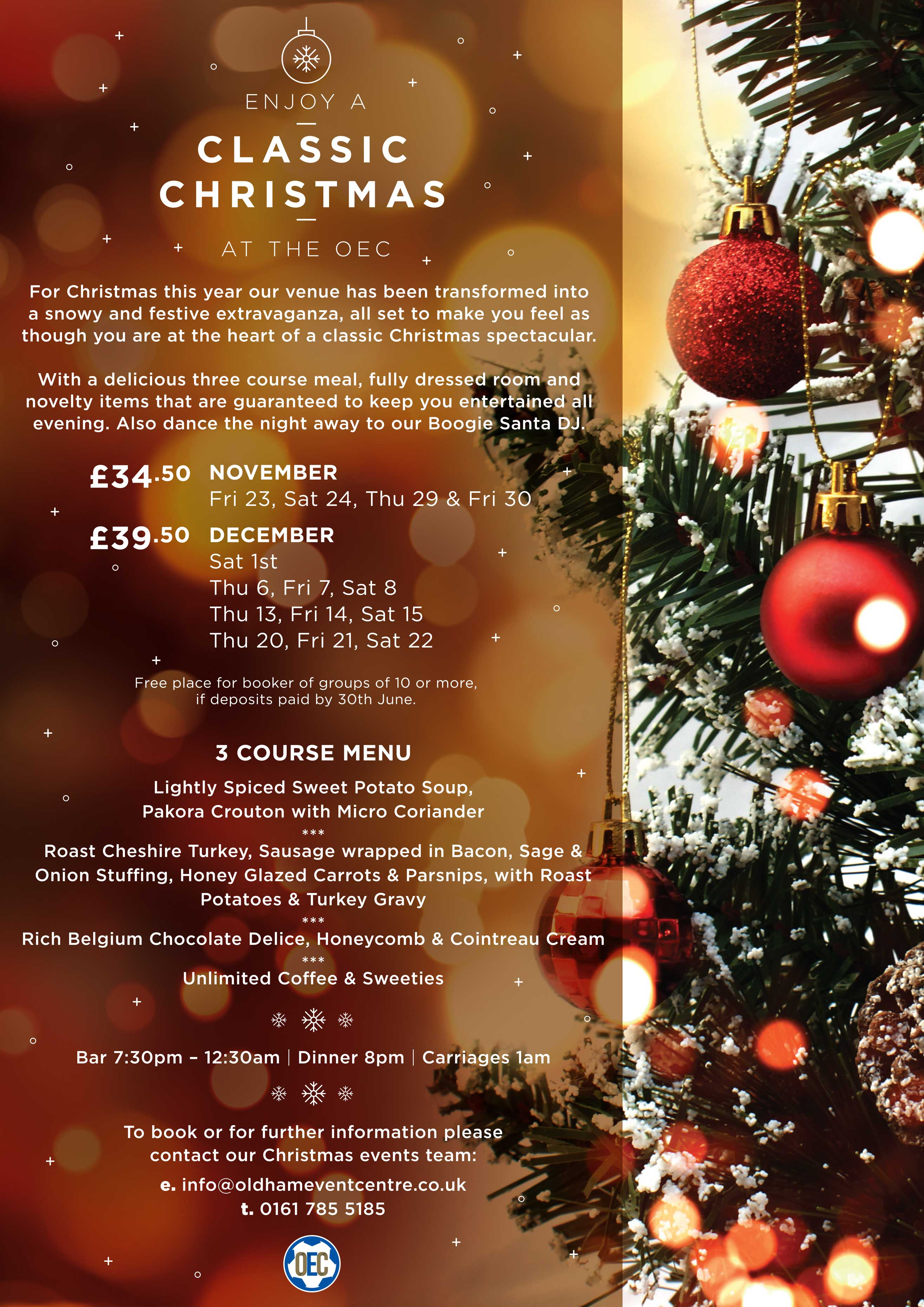 Classic Christmas at the Oldham Event Centre | Oldham Event Centre